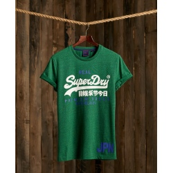 Tee-shirt Superdry VINTAGE LOGO DUO TEE-SHIRT Willow Green Grit