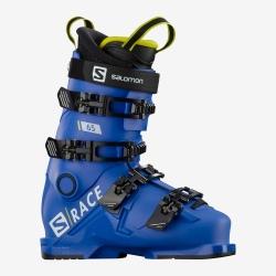 Chaussures de ski Salomon S/RACE 65 RACE Blue / Acid Green / Black