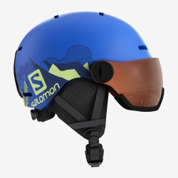 Casque de ski Salomon GROM VISOR Pop Blue Mat