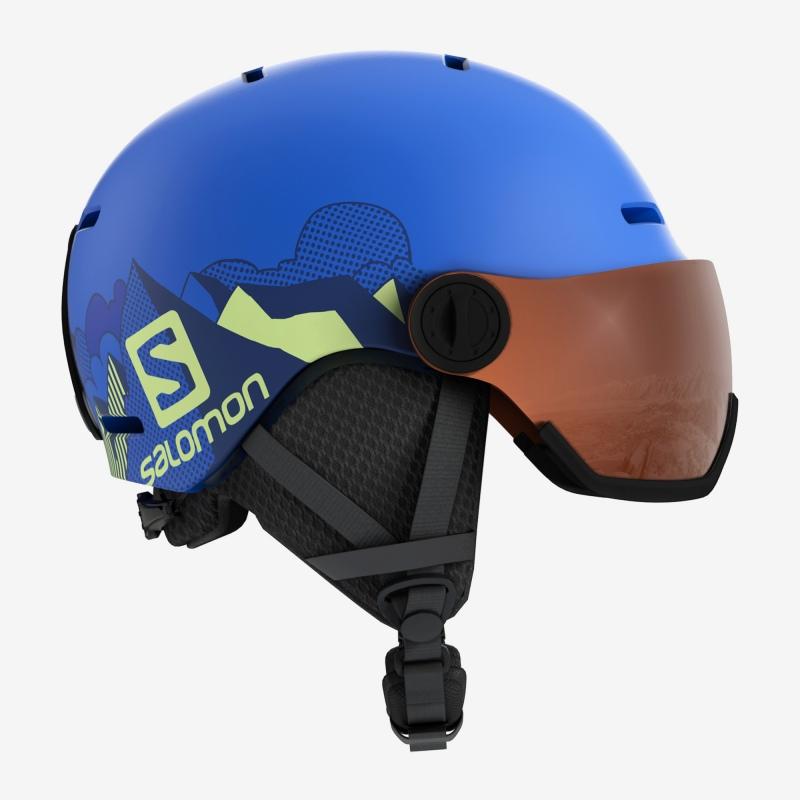 Ski Helmet Salomon GROM VISOR Pop Blue Mat