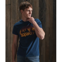 Tee-shirt Superdry CL WILDERNESS TEE Pilot Mid