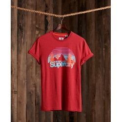 Tee-shirt Superdry CL WILDERNESS TEE Creek Red