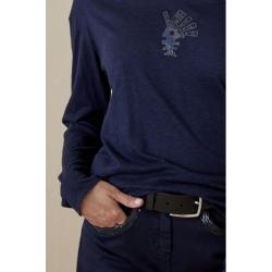 Diplodocus T-shirt FLAME QUETZAL ML ROUND COLLAR Navy