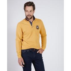 Polo shirt Putting on the green POLO ML FANTAISIE Mustard
