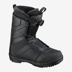 Boots Salomon FACTION BOA Black / Black / Red Orange