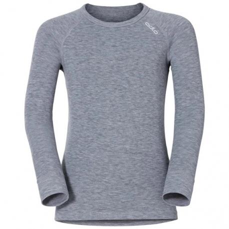 T-shirt technique Odlo ML ACTIVE WARM Grey Melange