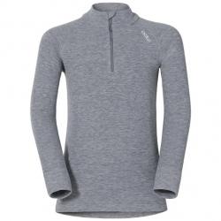 Technical top ½ zip with stand-up collar Odlo ACTIVE WARM Grey Melange