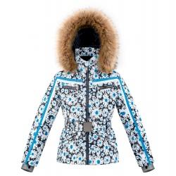Poivre Blanc Belt Ski Jacket Daisy Blue