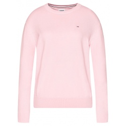 Tommy SOFT TOUCH CREW Romantic Pink Sweater