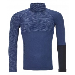 Pull Ortovox 230 COMPETITION ZIP NECK Night Blue Blend