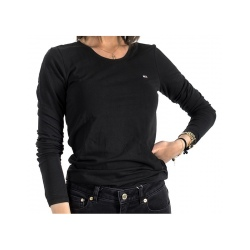 T-shirt Tommy ML STRETCH JERSEY Black