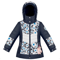Graphic ski jacket Poivre Blanc Multico Daisy Blue