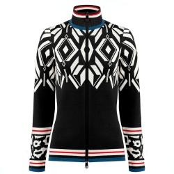 Multico Black Poivre Blanc Graphic Knit Jacket