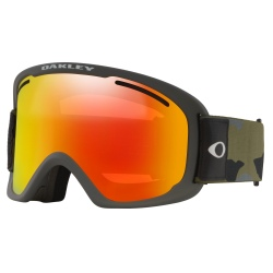Masque Oakley O-FRAME 2.0 PRO XL Dark Brush Camo / Fire Iridium & Persimmon