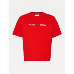 Tommy Jeans T-shirt MODERN LINEAR Deep Crimson