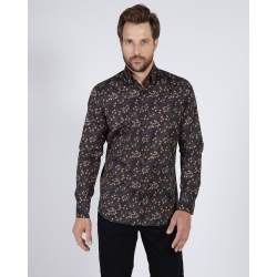 Mise au Green Unique long-sleeved printed shirt