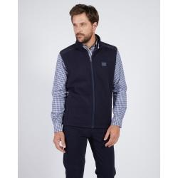 Mise au Green Marine double-sided fleece vest