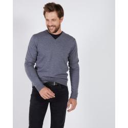 V-neck sweater Mise au Green Gris