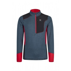 Montura THERMAL GRID ANORAK Blue Cenere/Red Jacket