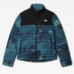 The North Face STRETCH DOWN Jacket The North Face STRETCH DOWN Mallard Blue Vapor Ikat Print/Black Jacket