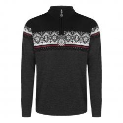 Dale of Norway MORITZ Sweater Darkcharcoal Raspberry Black
