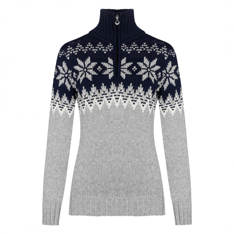 Dale of Norway MYKING Sweater Lightcharcoal Offwhite Navy