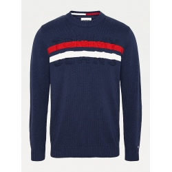 Tommy BLOCK STRIPE Twilight Navy/Multi Sweater