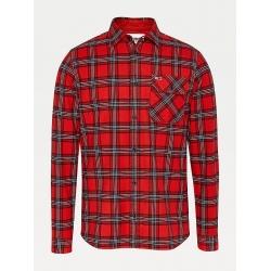 Chemise à carreaux Tommy Deep Crimson