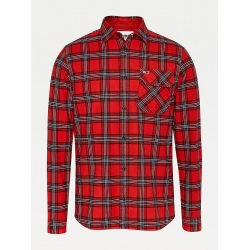 Tommy Deep Crimson Check Shirt