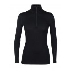 T-shirt ML 1/2zip Icebreaker OASIS Black