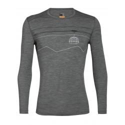T-shirt ML Icebreaker 200 OASIS PEAK TO PEAK LIFT Gritstone Heather