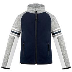 Fleece Jacket Graphic Poivre Blanc Multico Gothic Blue