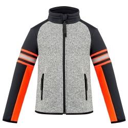 Fleece Jacket Graphic Poivre Blanc Grey Melange/Black