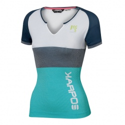 T-shirt Karpos MOVED EVO W JERSEY Bluebird/Insignia Blue