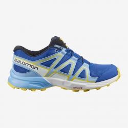Chaussures de trail Salomon SPEEDCROSS J Turkish Sea/Little boy blue/Lemon zest