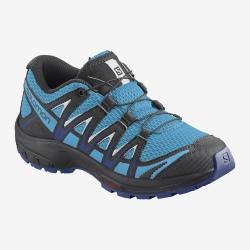 Salomon XA PRO 3D J Ethereal Blue/Surf the web/White hiking shoes
