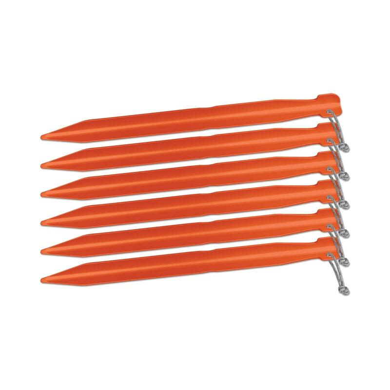 Piquets de tente Big Agnès 18 cm orange