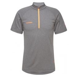 T-shirt Mammut AEGILITY HALF ZIP MEN Phantom Melange / Vibrant Orange
