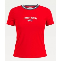 Tee-shirt Tommy Hilfiger TJW REGULAR TIMELESS Deep Crimson