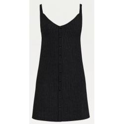 Tommy Hilfiger TJW BUTTON THRU RIB Dress Black