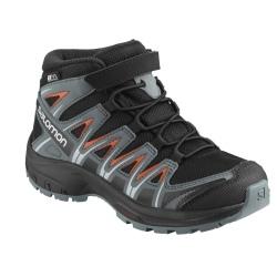Salomon SALOMON XA PRO 3D MID CSWP K shoes Black / Stormy Weather / Cherry Tomato