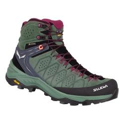 Salewa WS ALP TRAINER 2 MID GTX Green duck/Green hiking shoes