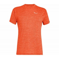 Salewa PUEZ MELANGE DRY M S/S Red Orange Melange T-shirt