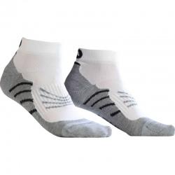 Socquettes Monnet RUN PERF Blanc gris