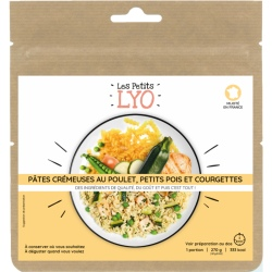 Voyager Creamy Pasta with Chicken, Peas and Zucchini 80G freeze-dried meal