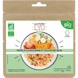 Voyager Pasta Sicilian style with organic soy chips 85G freeze-dried meal