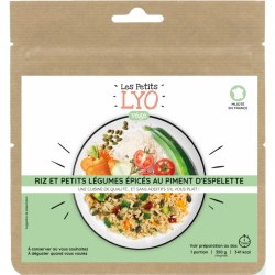 Voyager Rice and small vegetables spiced with Espelette pepper 90g freeze-dried meal