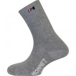 Doubles chaussettes Monnet TWIN TREK Gris
