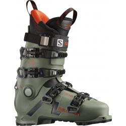 Salomon SHIFT PRO 130 AT Oil Green / Black / Orange ski boots