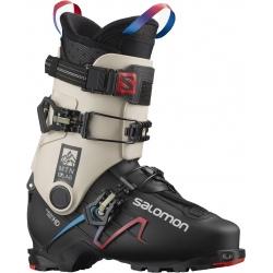 Salomon S/LAB MTN Black / Rainy Day / Red ski boots